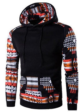 Ericdress Patchwork Big Pocket Ethnic Style Men's Hoodie