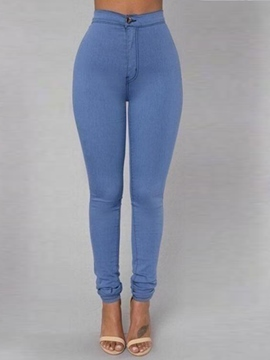 Ericdress Solid Color Simple Jeans