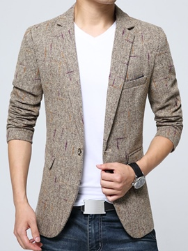 Ericdress print slim vogue men's blazer