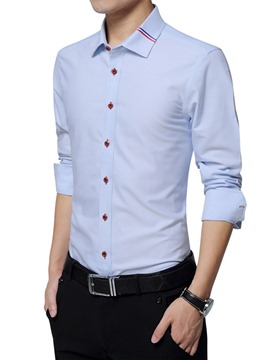 Ericdress Long Sleeve Anti Wrinkle Vogue Slim Men's Shirt