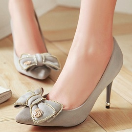 Ericdress Pretty Rhinestone Bowtie Point Toe Pumps