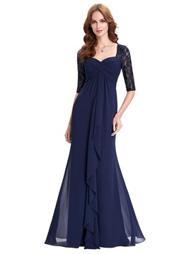 Ericdress Half Sleeves Sheath Long Mother Of The Bride Dress