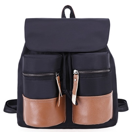 Ericdress Casual Color Block Patchwork Backpack
