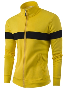 Ericdress Zip Casual Slim Men's Hoodie