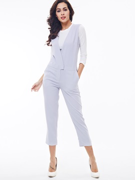 Ericdress Elegant Simple Jumpsuits Pants
