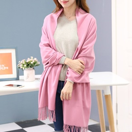 Ericdress Pure Color Cashmere Shawl Scarf