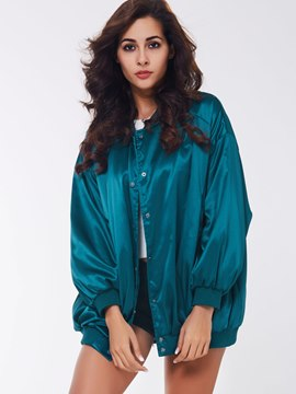 Ericdress Solid Color Loose Casual Batwing Coat