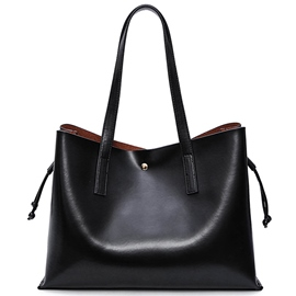 Ericdress Brief Style Solid Color Tote Bag