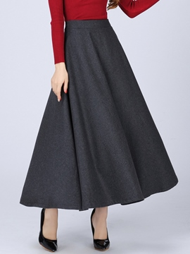 Ericdress Simple Vintage Expansion Skirt