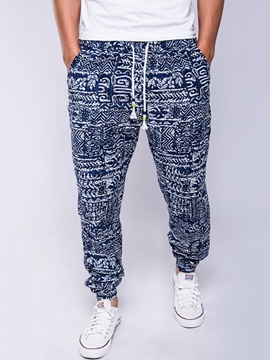 Ericdress Ethnic Style Print Casual Loose Men's Pants