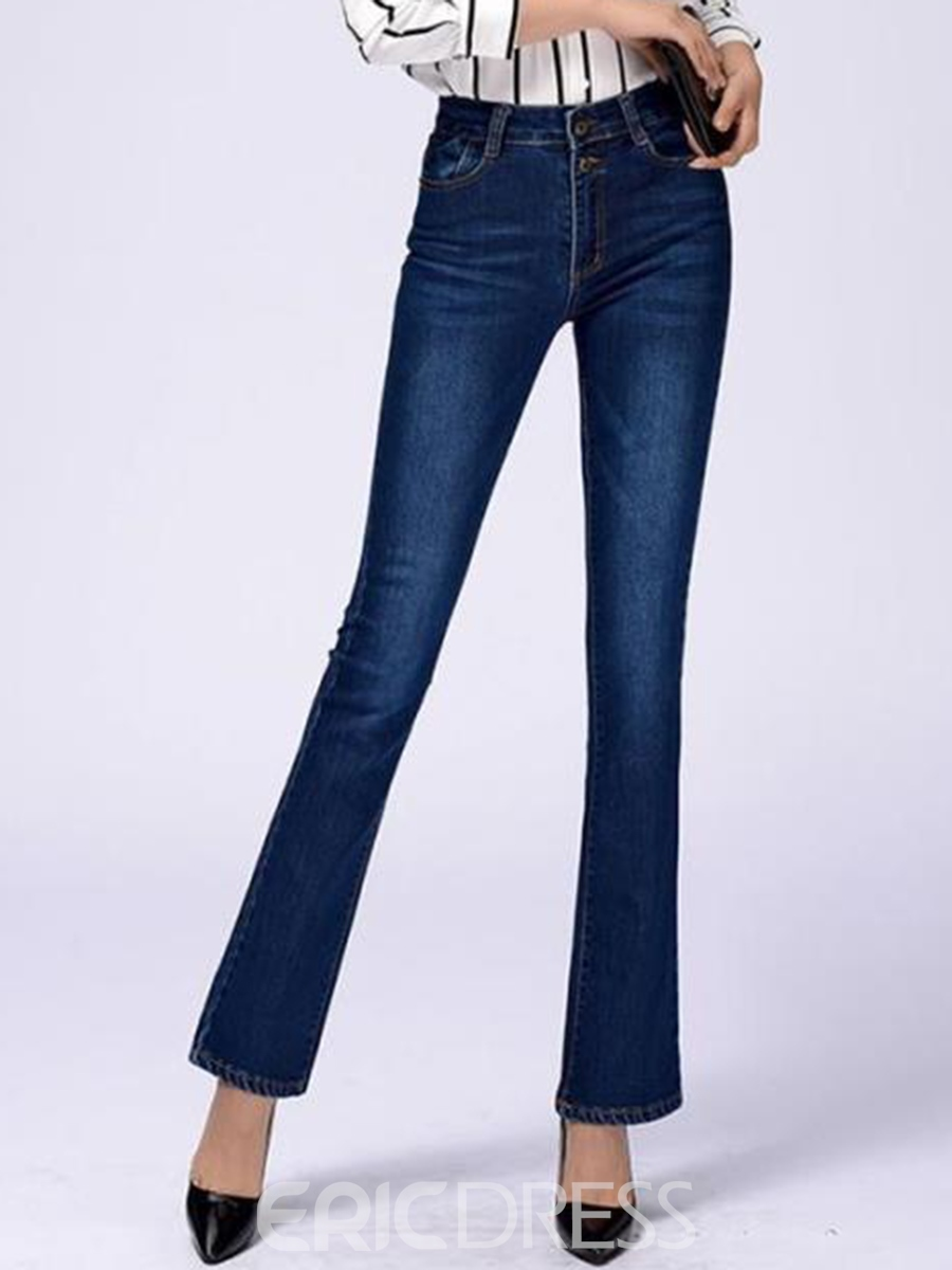 Ericdress Vintage High-Waist Flared Jeans 12422958