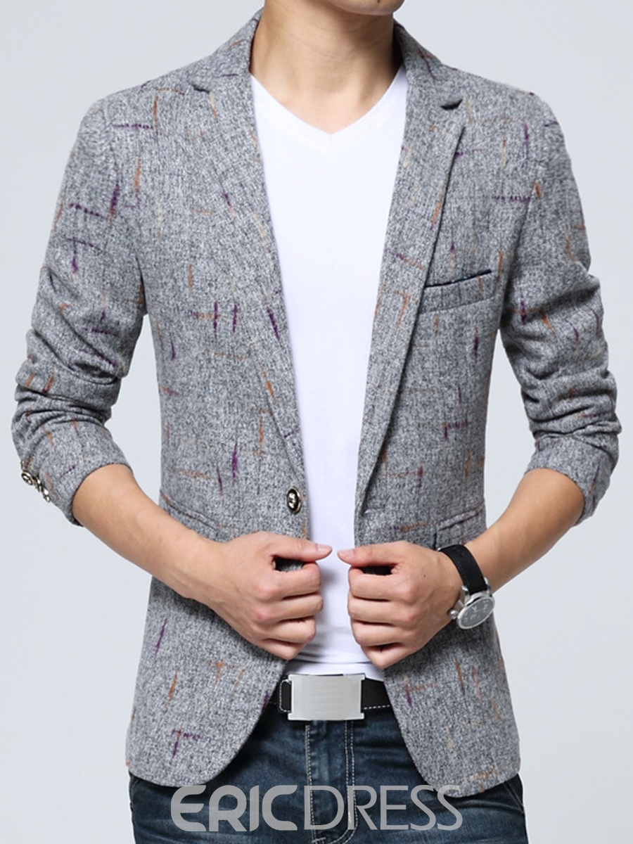 Ericdress Print Slim Vogue Men's Casual Blazer
