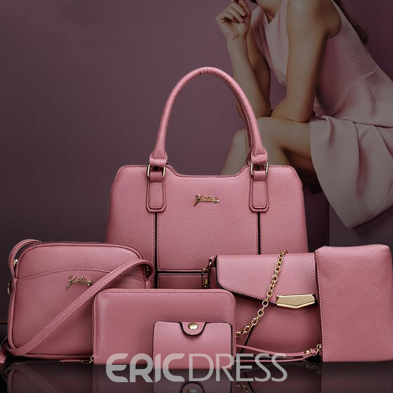 Ericdress Solid Color Patchwork Handbags(6 Bags)
