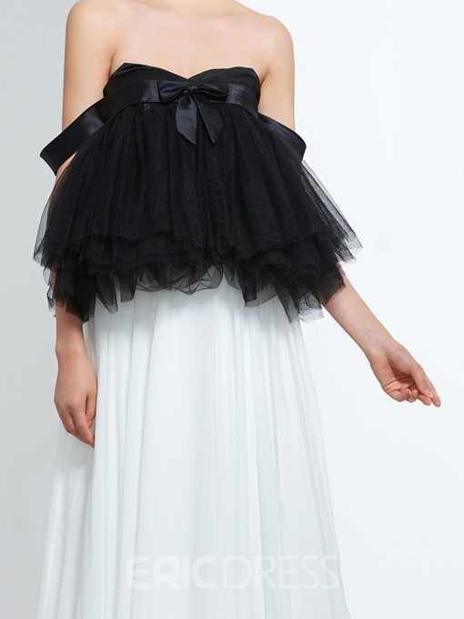 Ericdress A-Line Sweetheart Pleats Bowknot Floor-Length Prom Dress