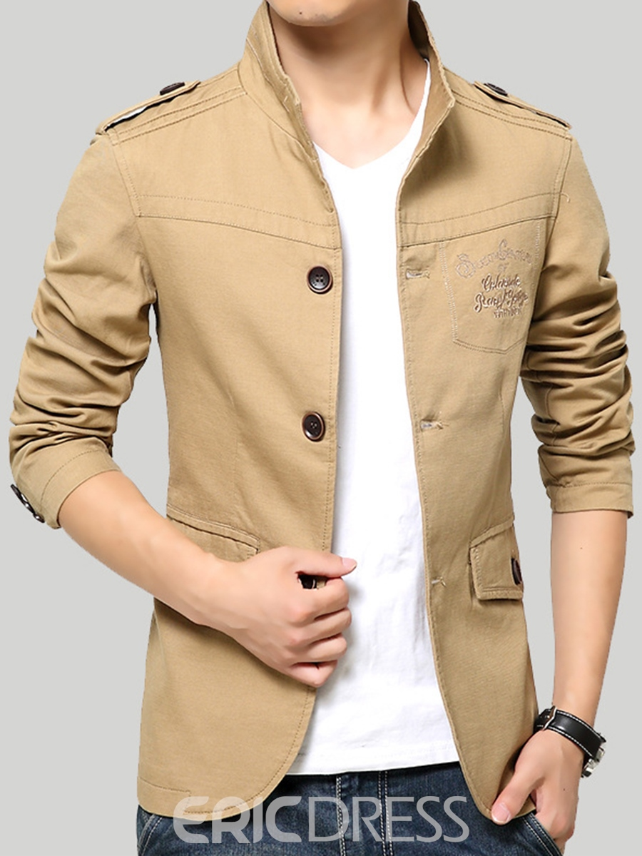 Ericdress Thin Casual Single-Breasted Men's Jacket