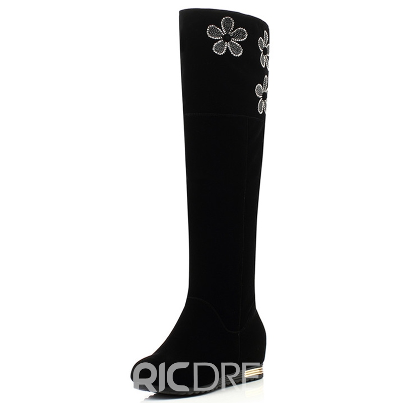 Ericdress Popular Rhinestone Slip-On Women's Knee High Boots
