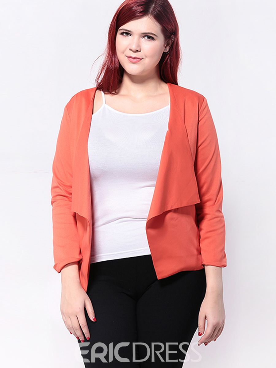 Ericdress Casual Solid Color Plus Size Blazer