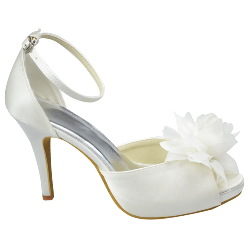 Ericdress Silk Floral Pee Toe Wedding Shoes