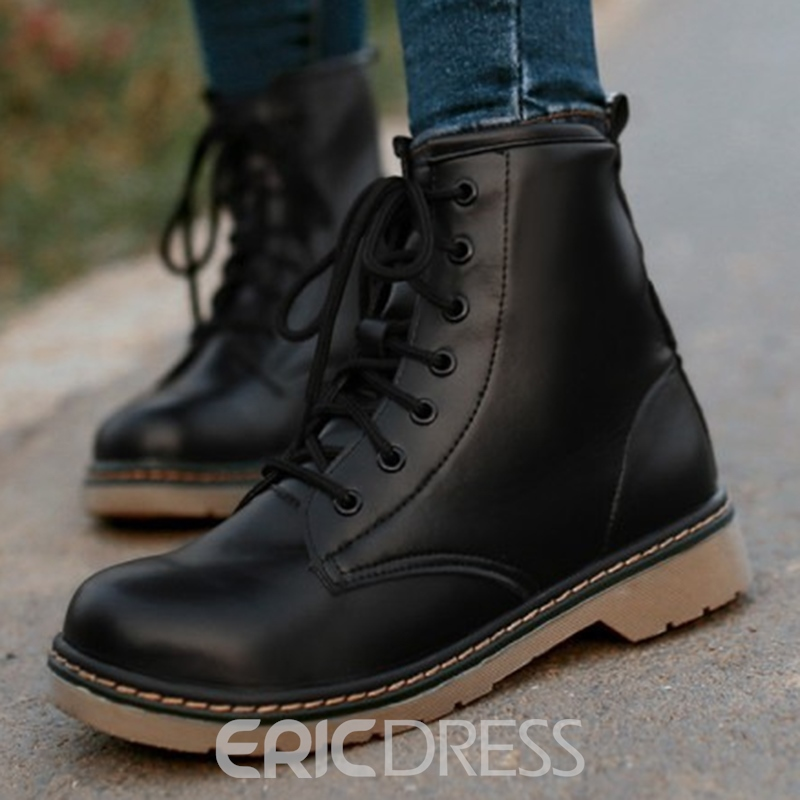 Ericdress Preppy Style Martin Boots