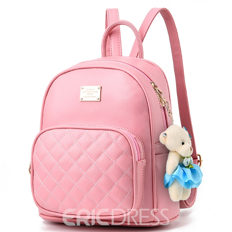 Ericdress Casual Plaid Backpack