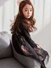 Ericdress Floral Patchwork Stand Collar Girls Dress