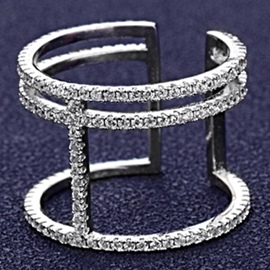Ericdress Simple All-Match Diamante Ring