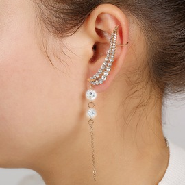 Ericdress Fashion Diamante Tassel Ear Cuff
