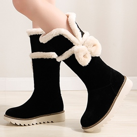 Ericdress Charming Bowtie Snow Boots
