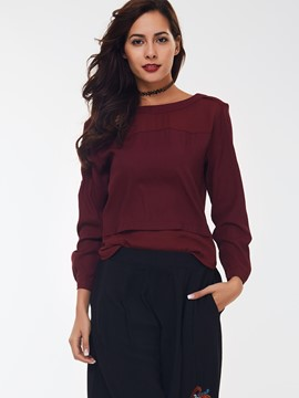 Ericdress Date Red Zipper Casual T-Shirt