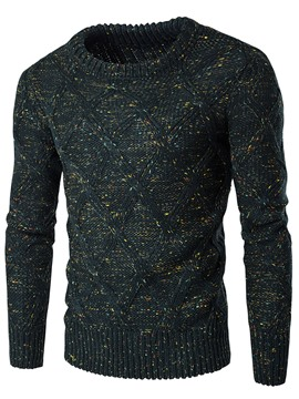 Plaine de Ericdress Crew Neck Vogue Slim chandail hommes