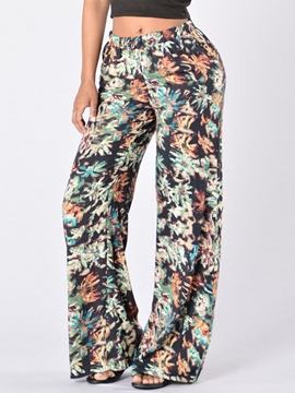 Ericdress Casual Simple Floral Print Pants