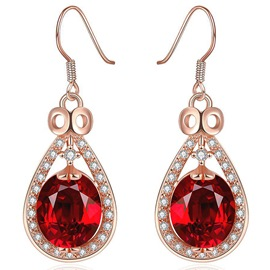 Ericdress Water Droplets Gemstone Pendant Earrings