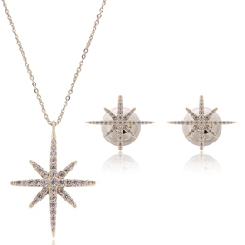 Ericdress Starfish Diamante Two Pieces Jewelry Set