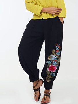 Ericdress Chinese Embroidery Lantern Pants