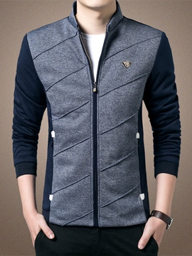 Ericdress Zip Slim chaqueta Vogue hombres