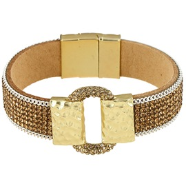 Ericdress Full Rhinestone Leather Bracelet
