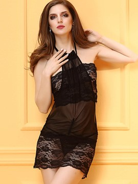 Ericdress Mesh Lace See-Through Sexy Chemise