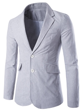 Ericdress Stripe Vogue Slim Men's Blazer