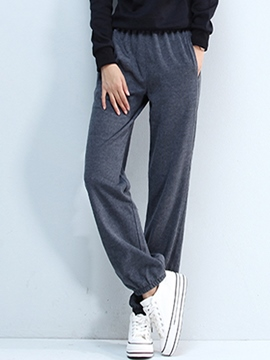 Ericdress Simple Solid Color Jogging Pants