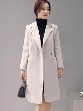 Ericdress Elegant Solid Color Simple Coat