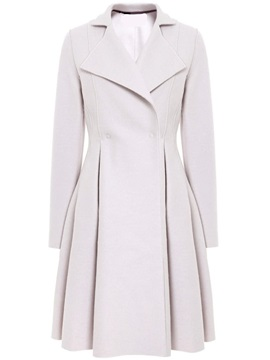 Ericdress A-Line Pleated Slim Coat