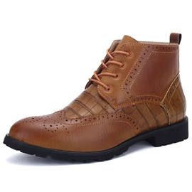 Ericdress Trendy Round Toe Lace up Men's Boots