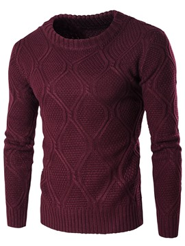 Chandail plaine de Ericdress Crew Neck Vogue Jacquard chaud hommes