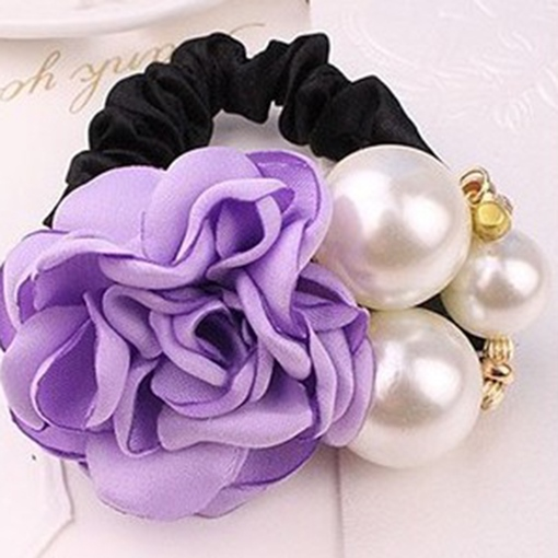 Ericdress Imitation Pearl Rose Ultra Violet Hair Accessories for Women