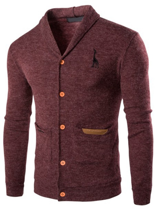 Ericdress Embroidery Pocket Vogue Casual Men's Knitwear
