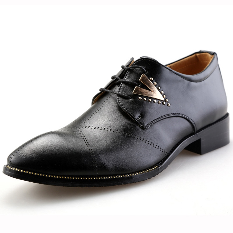 Ericdress Fashion Point Toe Square Heel Mens Oxfords