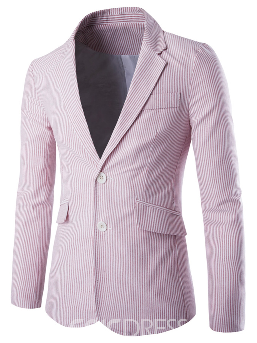 Ericdress Notched Lapel Stripe Vogue Slim Men's Blazer