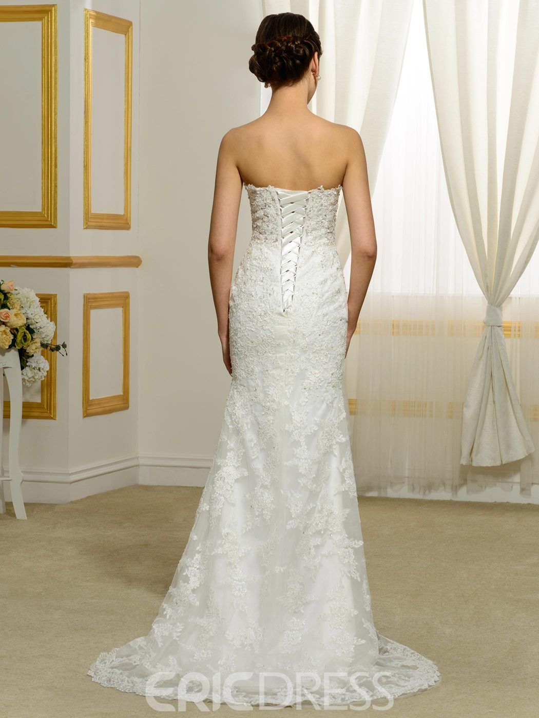 Ericdress Morden Sweetheart Appliques Beaded Mermaid Wedding Dress