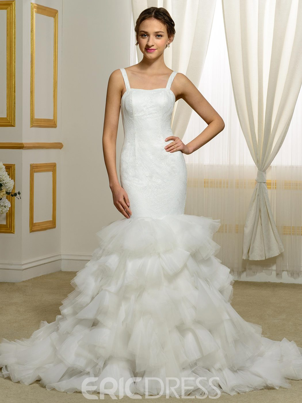 Ericdress Modern Straps Mermaid Wedding Dress