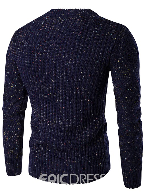 Ericdress Plain Crew Neck Vogue Slim Men's Sweater
